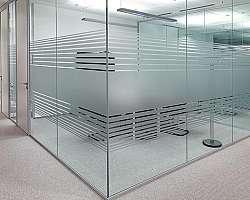 Divisória de vidro lavanderia