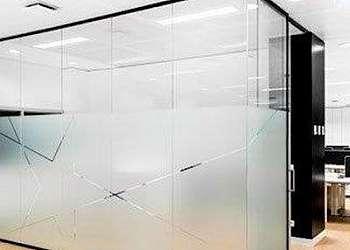 Divisória de ambiente de vidro SP