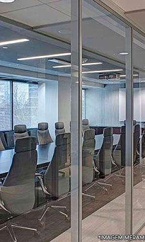 Divisória de ambiente escritório