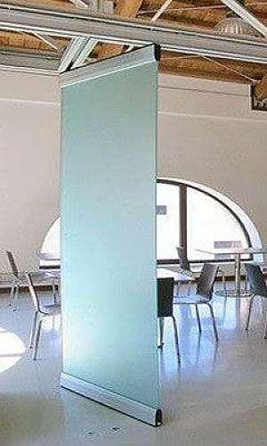 Divisória de vidro temperado escritório