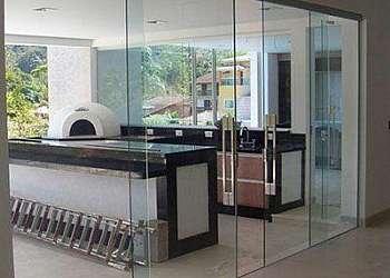 Divisória piso teto vidro duplo Sacomã