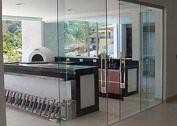 Divisória piso teto vidro duplo SP