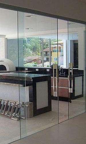 Divisória piso teto vidro duplo