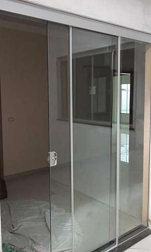 Portas de vidros temperados